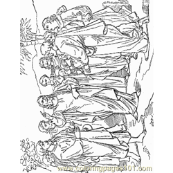 Jesus 12 Free Coloring Page for Kids
