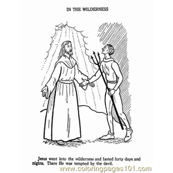 Jesus 15 Free Coloring Page for Kids