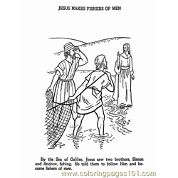 Jesus 17 Free Coloring Page for Kids