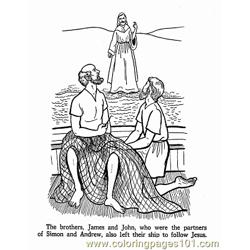 Jesus 18 Free Coloring Page for Kids
