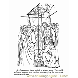 Jesus 19 Free Coloring Page for Kids