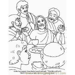 Jesus 4 Free Coloring Page for Kids
