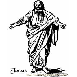 Jesus 9 Free Coloring Page for Kids