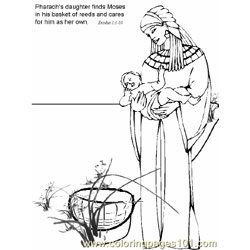 Moses 10 Free Coloring Page for Kids