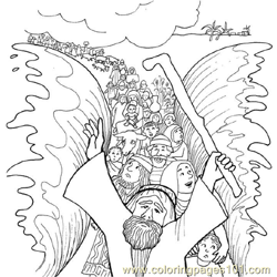 Moses 11 Free Coloring Page for Kids
