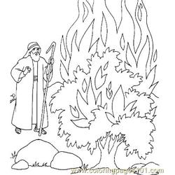 Moses 13 Free Coloring Page for Kids