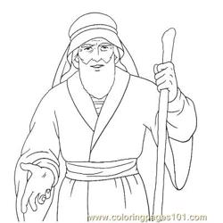 Moses 14 Free Coloring Page for Kids