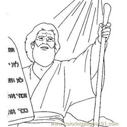 Moses 16 Free Coloring Page for Kids