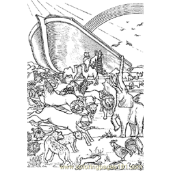 Noah 14 Free Coloring Page for Kids