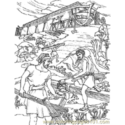 Noah 15 Free Coloring Page for Kids