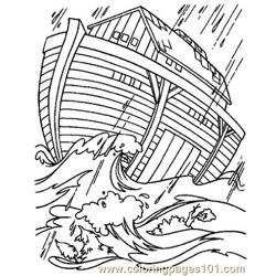 Noah 17 Free Coloring Page for Kids