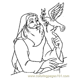 Noah 18 Free Coloring Page for Kids