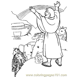 Noah 20 Free Coloring Page for Kids