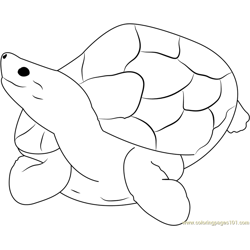 Sitting Turtle Free Coloring Page for Kids