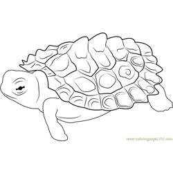 Sleeping Turtle Free Coloring Page for Kids