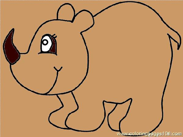 Rhinoceros 02 Coloring Page