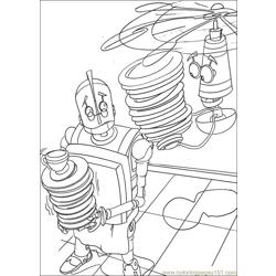 Robots 07 coloring page