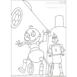 Robots13 Free Coloring Page for Kids