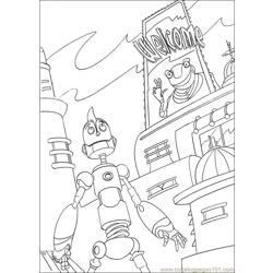 Robots16 Free Coloring Page for Kids