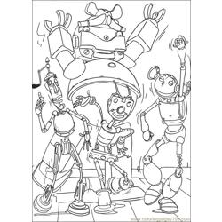 Robots17 Free Coloring Page for Kids