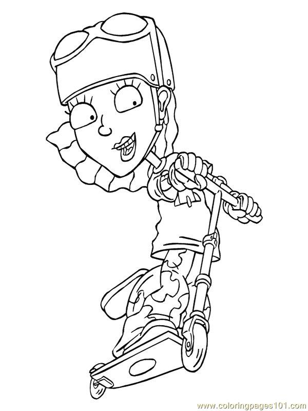 Rocketpower 27 Coloring Page - Free Rocket Power Coloring ...