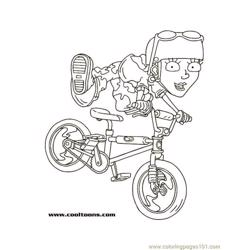 Regbike1 coloring page