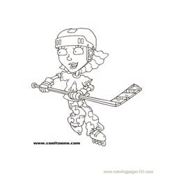 Reghockey1 coloring page
