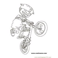 Twistbike1 coloring page