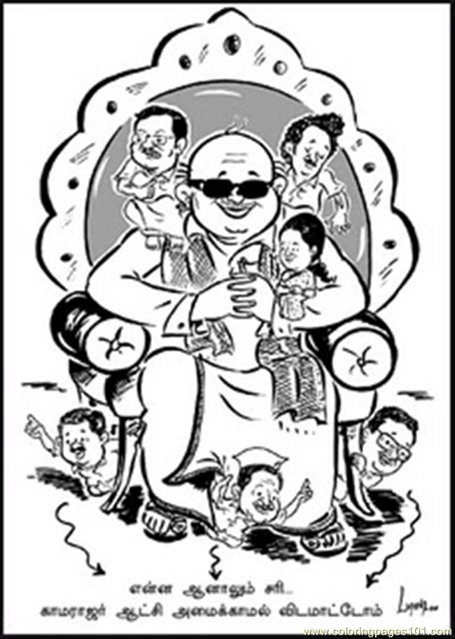 2 Family Mp Mla Minister Stalin Coloring Page