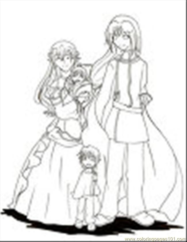 37  Family Lineart By Lunna Hime Coloring Page