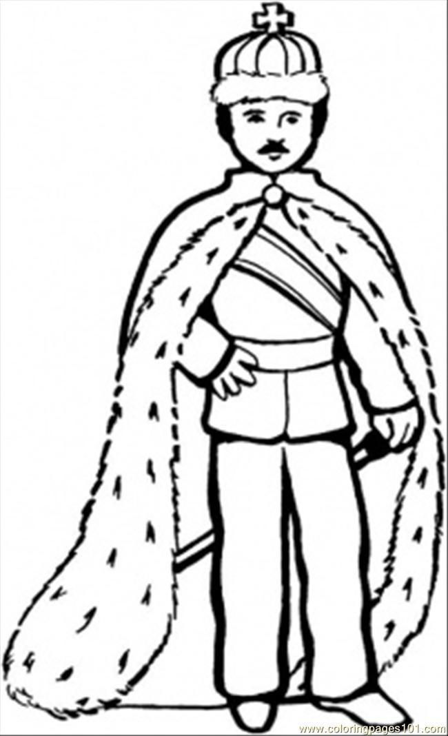 83 King Coloring Page Coloring Page - Free Royal Family ...