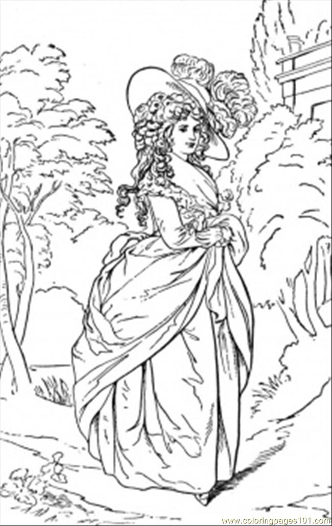 Duchess In The Garden Coloring Page