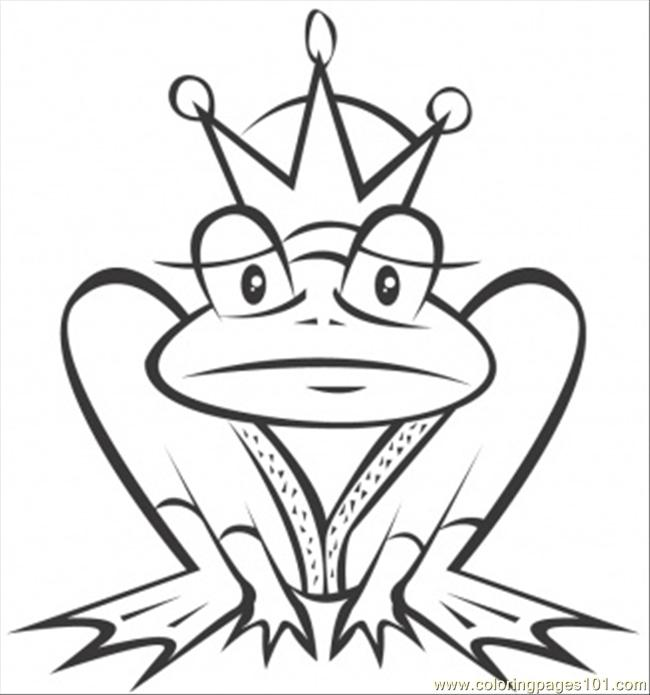 Frog Is A Prince Coloring Page
