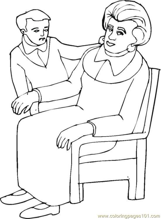 Grandparent (7) Coloring Page