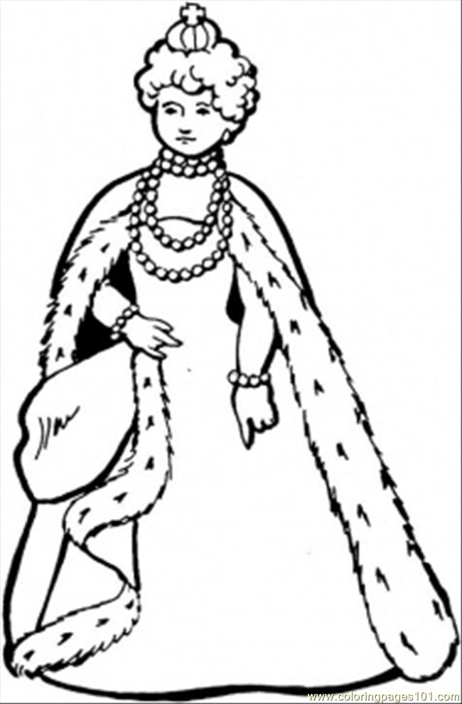 Great Queen Coloring Page - Free Royal Family Coloring