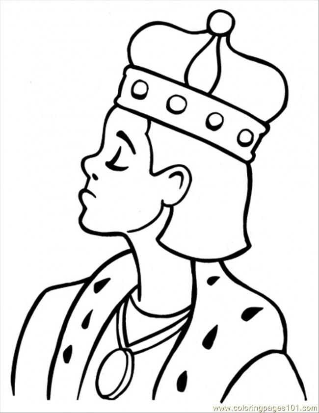 King Coloring Page  Free Royal Family Coloring Pages