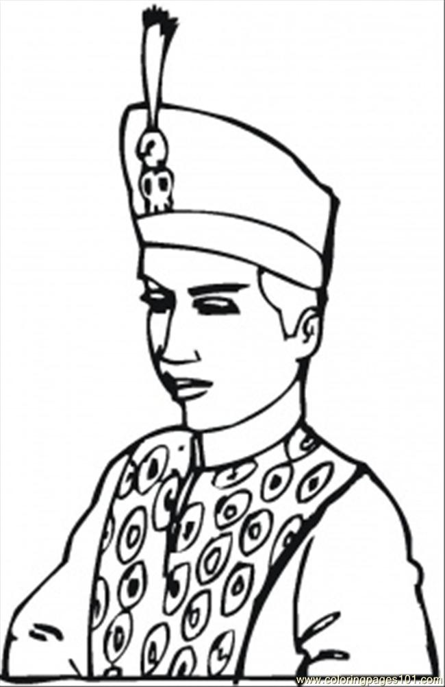 King Of Indonesia Coloring Page Free Royal Family
