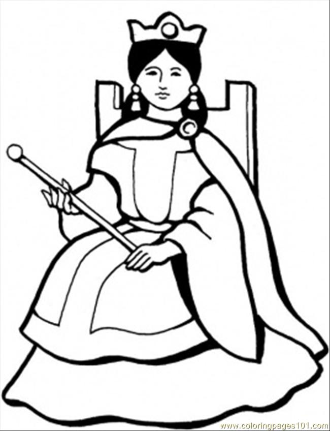 Spanish Queen Coloring Page