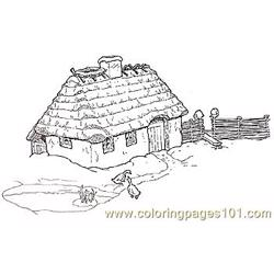 Grandmothers House Coloring Page 75 Free Coloring Page for Kids