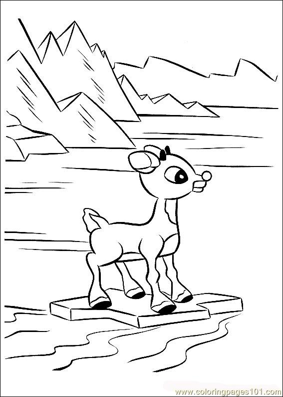 Rudolph 40 coloring page free rudolph the red nosed for Rudolph the red nosed reindeer coloring page
