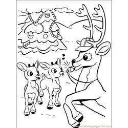 Rudolph 006 (7) Free Coloring Page for Kids