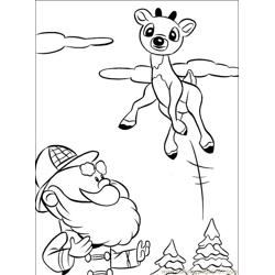 Rudolph 006 (9) Free Coloring Page for Kids