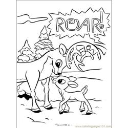 Rudolph 006 Free Coloring Page for Kids