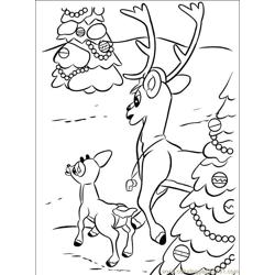 Rudolph 017 (1) Free Coloring Page for Kids