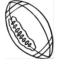 Rugby Ball Free Coloring Page for Kids