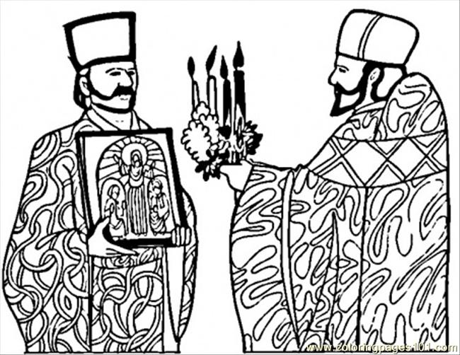 Russian Orthodox Church Coloring Page Coloring Pages
