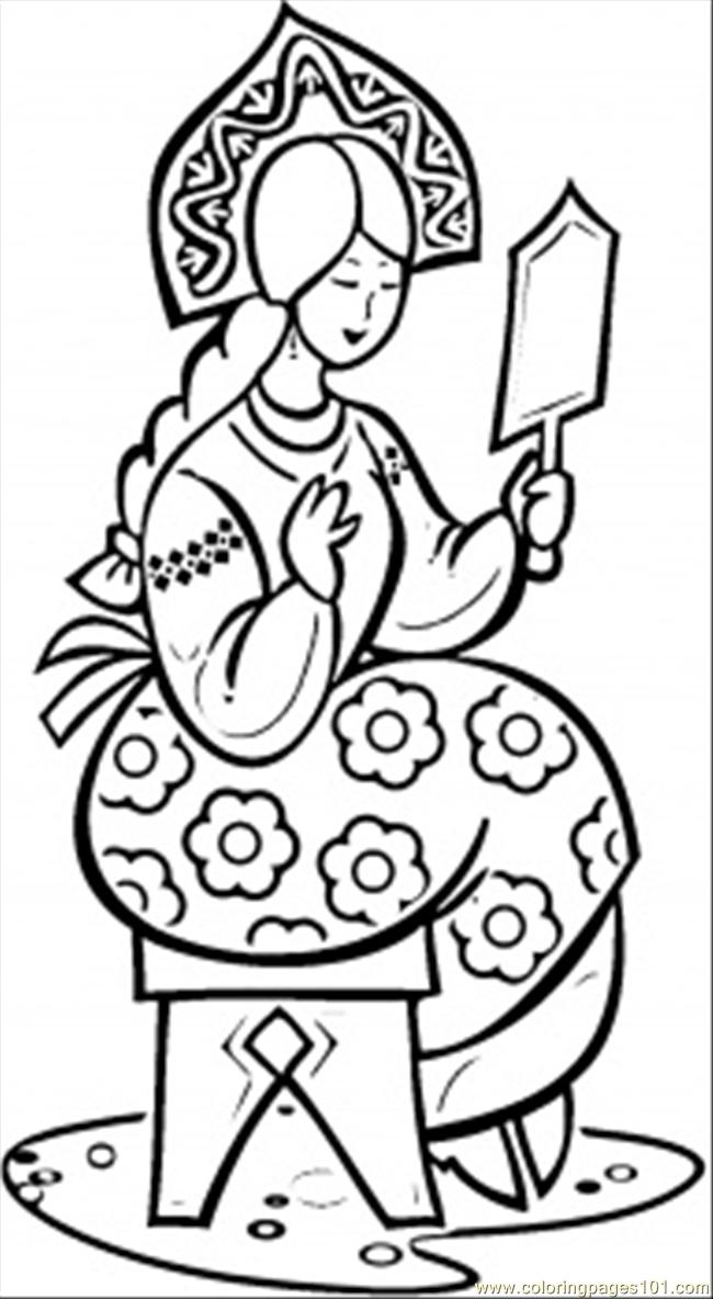 Making Beauty Coloring Page Free Russia Coloring Pages