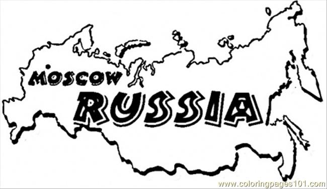 Map Of Russia Coloring Page