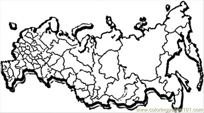 Map Of Great Russia Coloring Page Free Russia Coloring
