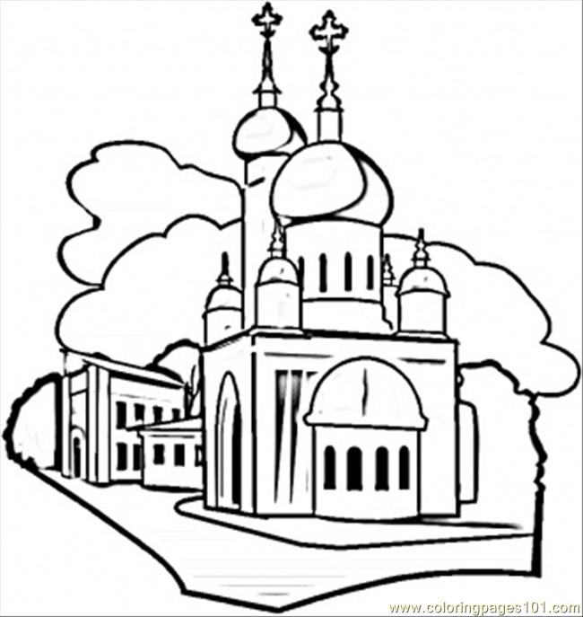 Moscow Coloring Page Free Russia